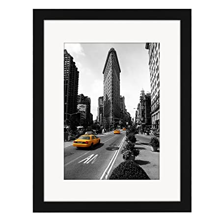 30cm x 40cm Black Picture Frame with Glass Front - Made to Display ...