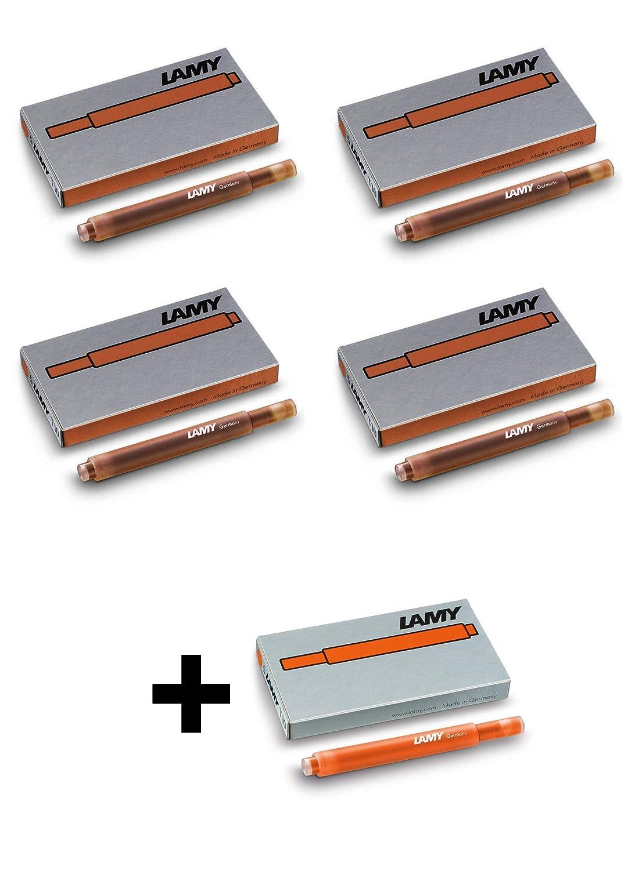 Lamy T10 cartuchos de tinta de bronce 2019 edici/ón especial x 4 paquetes edici/ón especial gratis cartuchos de color naranja x 1 paquete