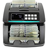 Kolibri Money Counter with UV/MG/IR/DBL/HLF/CHN Counterfeit Detection - Bill Counting Machine - Large LED Display - 1,500 Bil