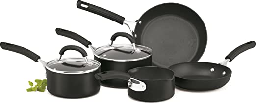 5-Piece Circulon Origins Hard Anodised Cookware Set Black