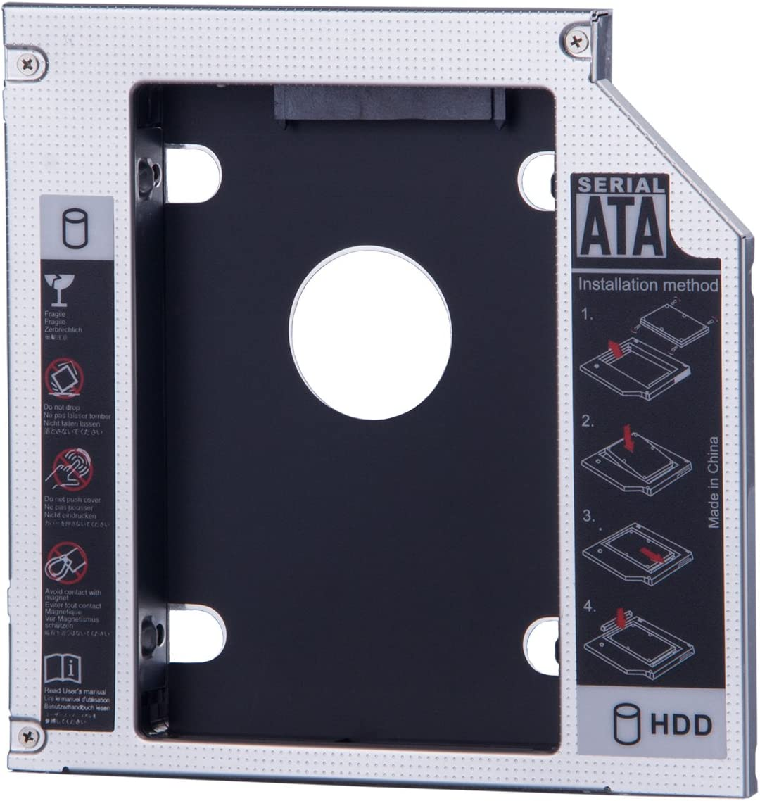 SATA Second 2nd HDD SSD Hard Drive Caddy Bay 12.7mm For ACER BENQ ...