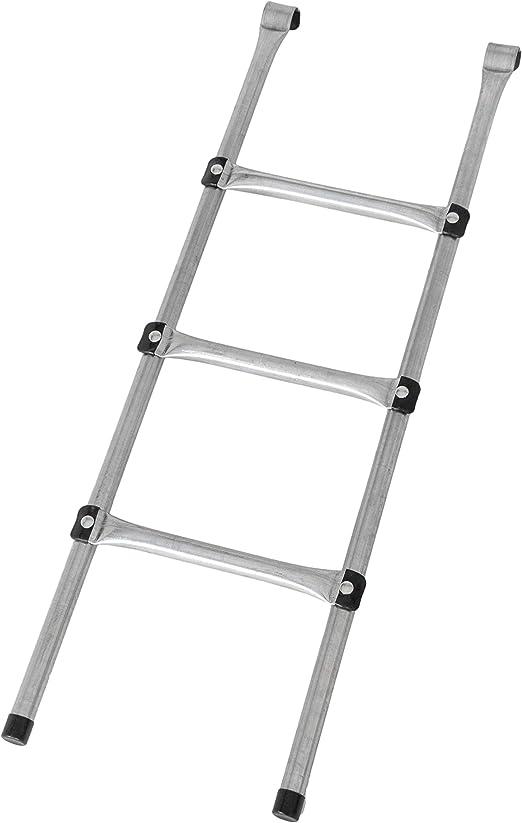 MotionXperts - Escalera para Camas elásticas Grandes | ca 97 cm | 3 Anchas | facilita la montada en el trampolín | Plata: Amazon.es: Jardín