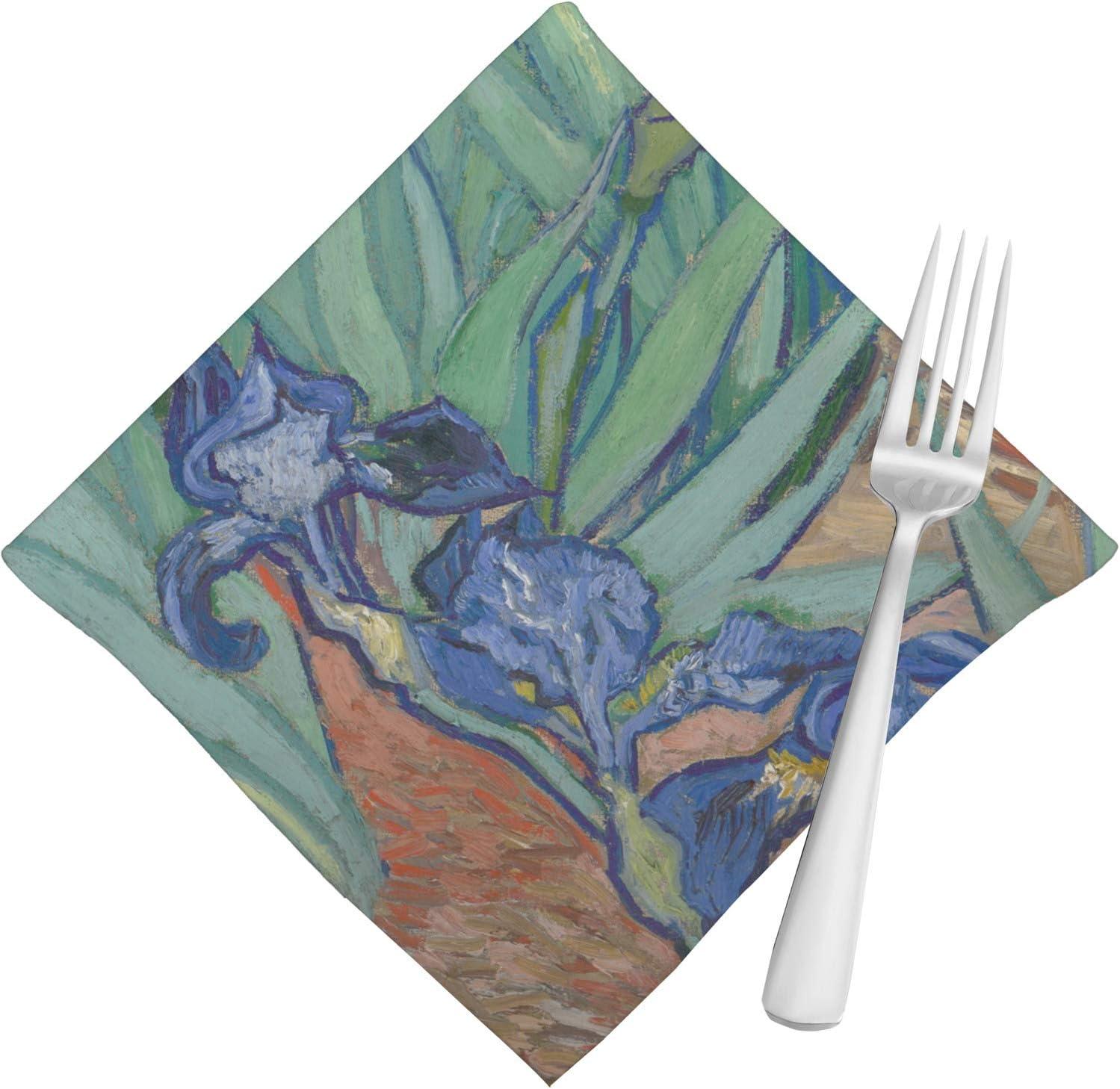 Irises (Van Gogh) servilletas (Juego de 4): Amazon.es: Hogar