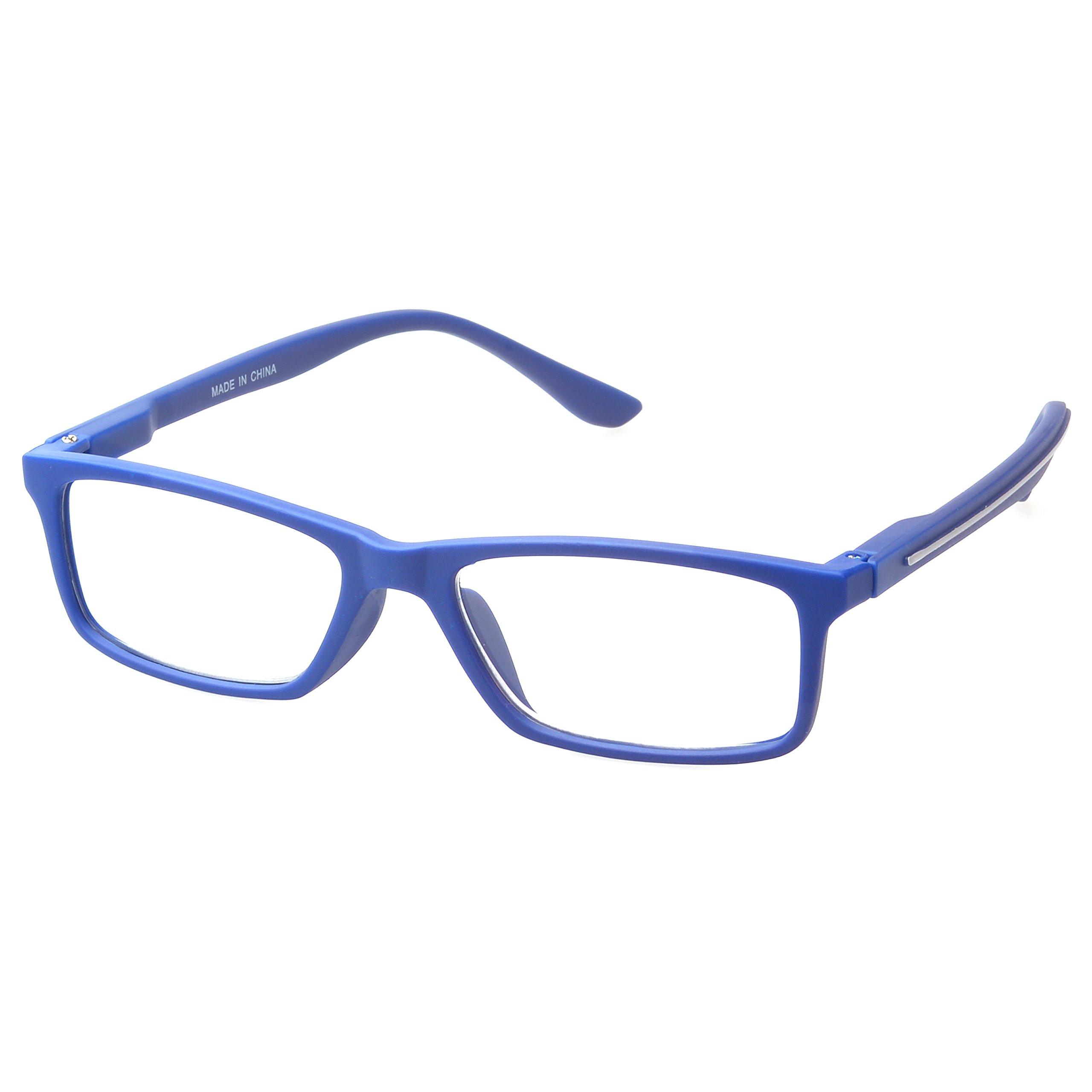 MLC Eyewear ® 'Avon' Rectangle Reading Glasses +1.50 in Blue