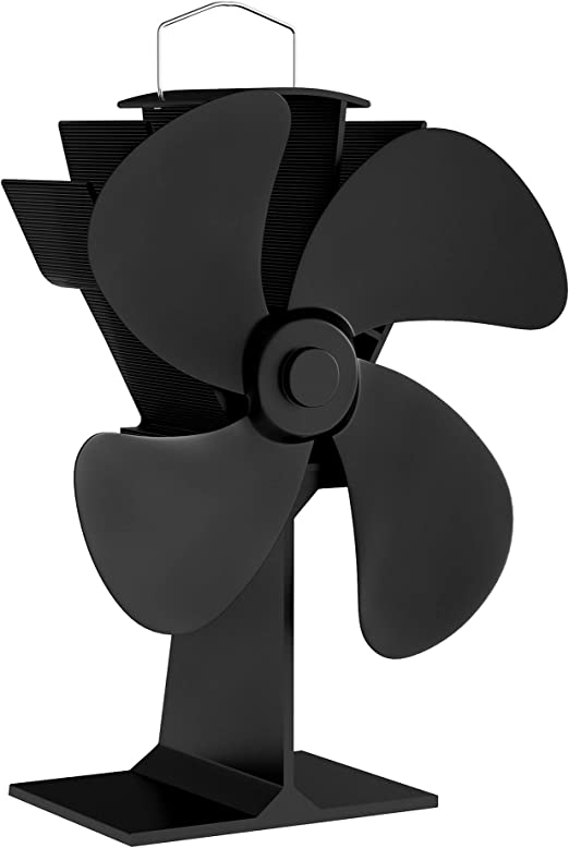 Amazon Com Home Complete Stove Fan Heat Powered Fan For Wood Burning Stoves Or Fireplaces Quiet And Low Maintenance Disperses Warm Air Through House Home Kitchen