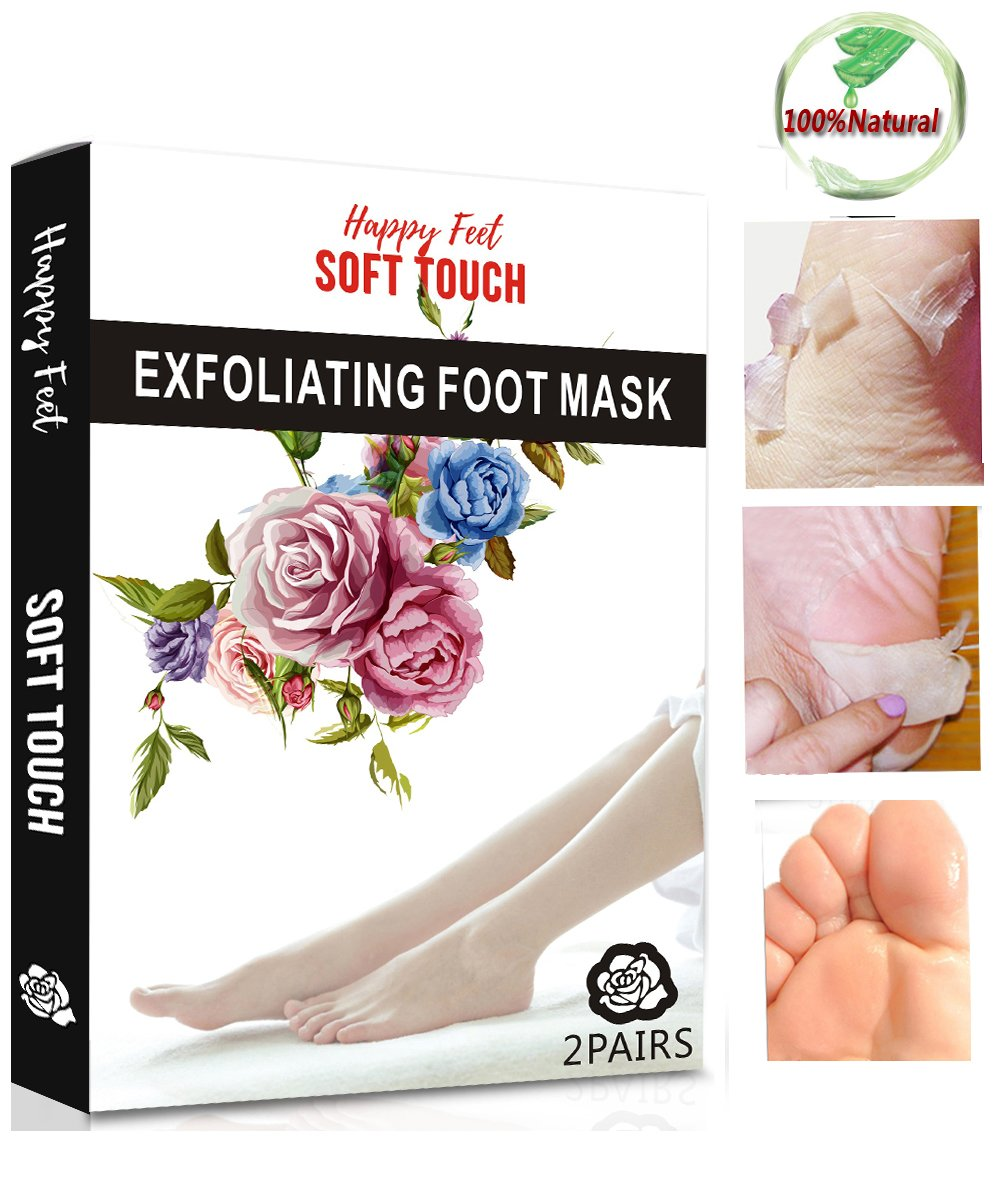 Foot Peeling Mask, Exfoliating Socks Foot Peel Mask for Baby Soft Skin, Remove Dead Skin & Calluses in 1-2 Weeks, Get Smooth Soft Foot for Men & Women by JaBoMay(2 pairs) JaBoMei