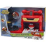 Giochi Preziosi - Super Wings Playset l'Hangar di Jett con Personaggio a Frizione