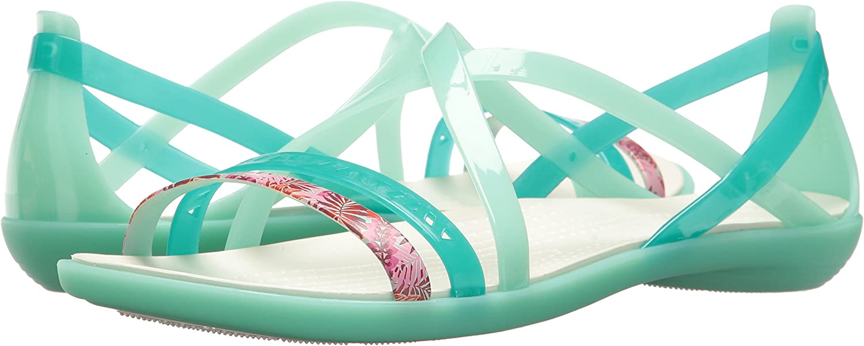 crocs Isabella Cut Graphic Strappy Sandal Women New MinzeOyster Croslite