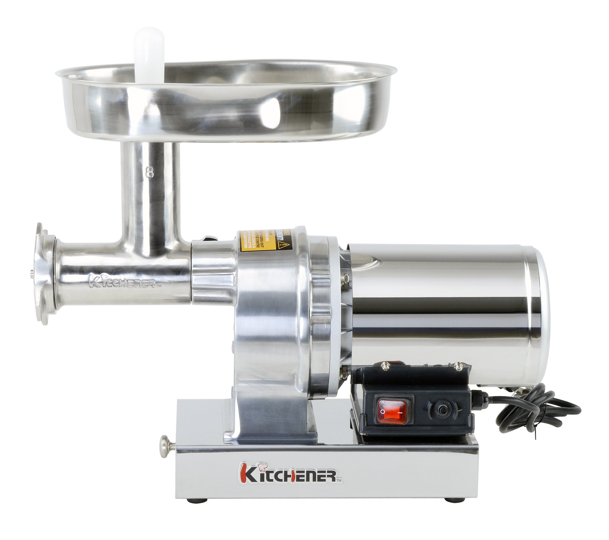 Kitchener #8 Commercial Grade Electric Stainless Steel Meat Grinder 1/2 HP (370W), (480-lbs Per Hour) by Kitchener (Image #6)