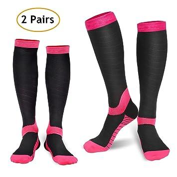 deilin calcetines de compresión (2 pares) para hombres y mujeres, mejor Graduado deportivo