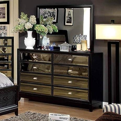 Amazon.com: 1PerfectChoice Golva Luxury Bedroom Dresser Mirror Gold ...
