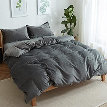 Marvelous Luxury Solid Color Velvet Bedding Duvet Cover Sets King Size, Queen Size,  Winter Design