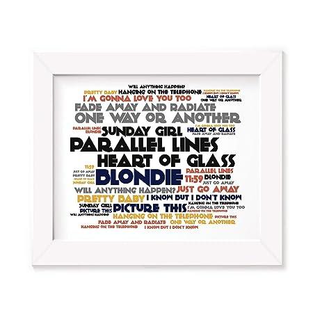 584980fdb8ea Blondie Poster Print - Parallel Lines - Lyrics Gift Signed Art   Amazon.co.uk  Kitchen   Home