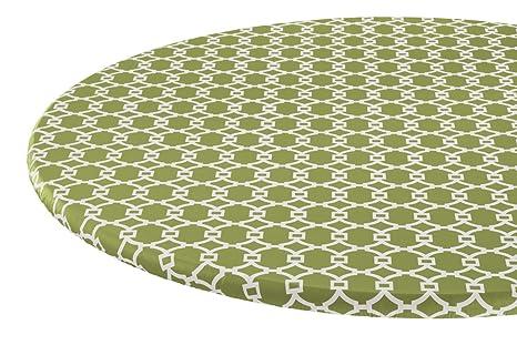 amazon com miles kimball lattice vinyl elasticized table cover hsk rh amazon com elasticized table covers round elasticized table cover square
