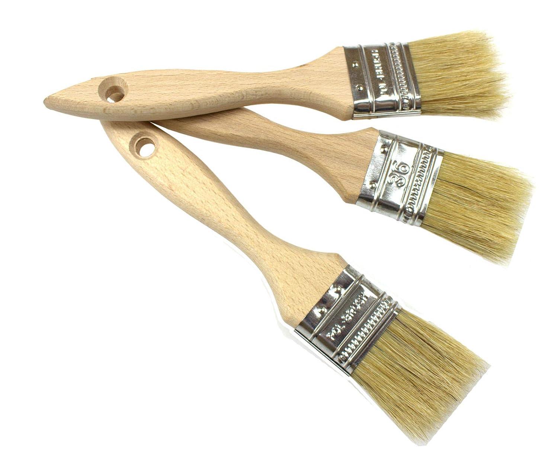 Peinture poils naturels Lot de 3pcs 1, 41 '36 mm 41 36 mm pol-brush