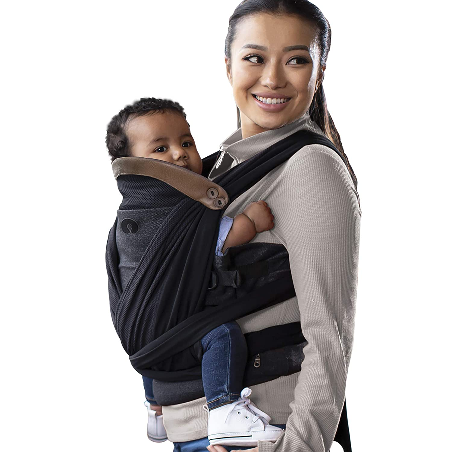 Boppy ComfyChic Baby Carrier, 4 Carrying Positions, Charcoal
