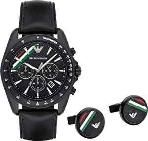 Emporio Armani Casual Watch For Men Analog Leather - AR8036