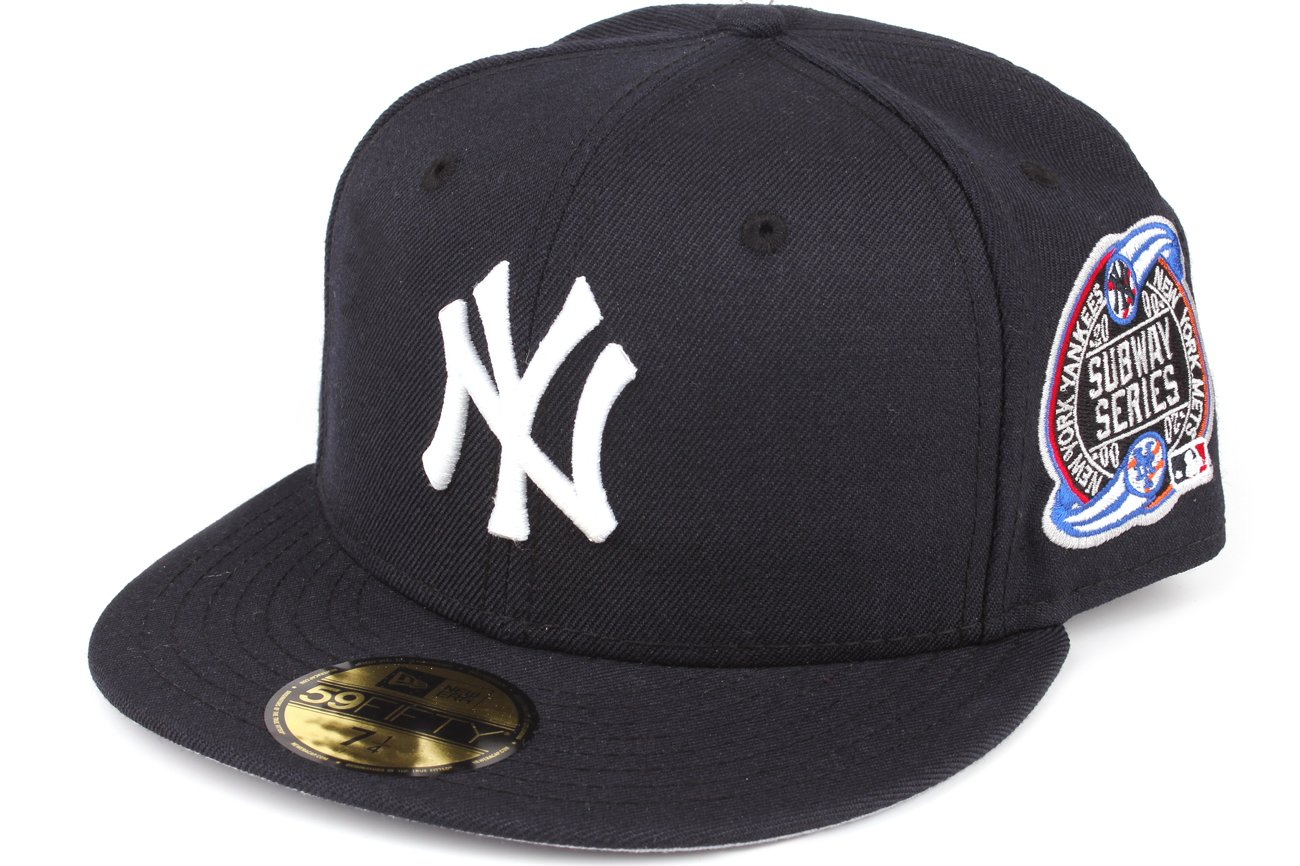 pick up 68174 cc91f Amazon.com   New Era 59fifty New York Yankees Baseball Fitted Hat Cap  Subway World Series 2000   Clothing
