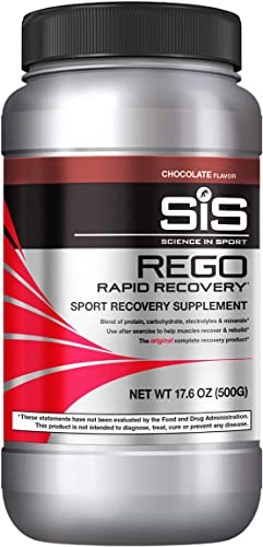 Science in Sport REGO Rapid Recovery Drink Mix, Post Workout Protein Drink, Recovery Beverage, Chocolate – 1.25 lb