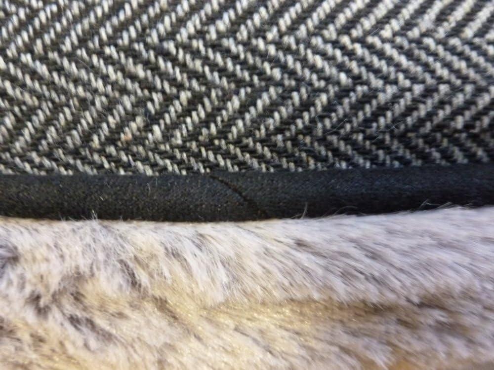 Cama Reversible de Tweed y Piel sint/ética marr/ón para jaulas y Cajas peque/ñas de 24 Pulgadas Ellie-Bo