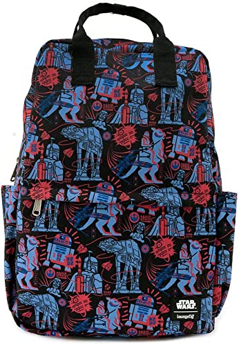 Loungefly Star Wars Empire Strikes Back 40th Anniversary Square Nylon Backpack