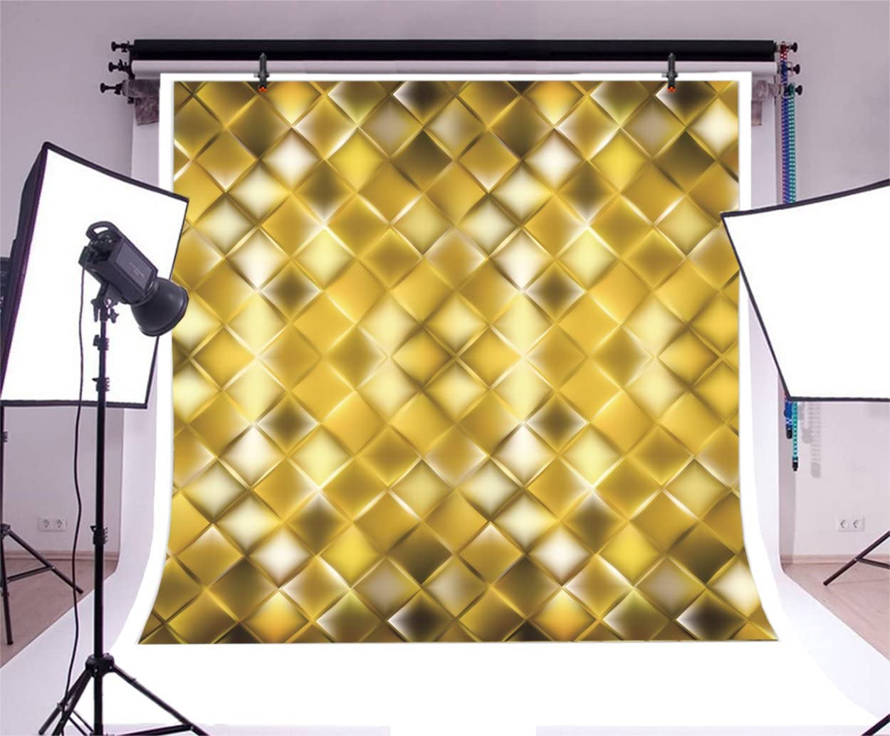Diamond 8x10 FT Photo Backdrops,Colorful Gemstones with Rhombus Shapes on a Dark Background Simplistic Pattern Background for Baby Shower Birthday Wedding Bridal Shower Party Decoration Photo Studio