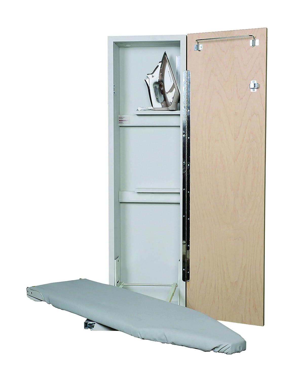 iron-a-way 42で。non-electricアイロンセンターwith Swivel ANE42FWU B00X1JSI7E Flat White Door