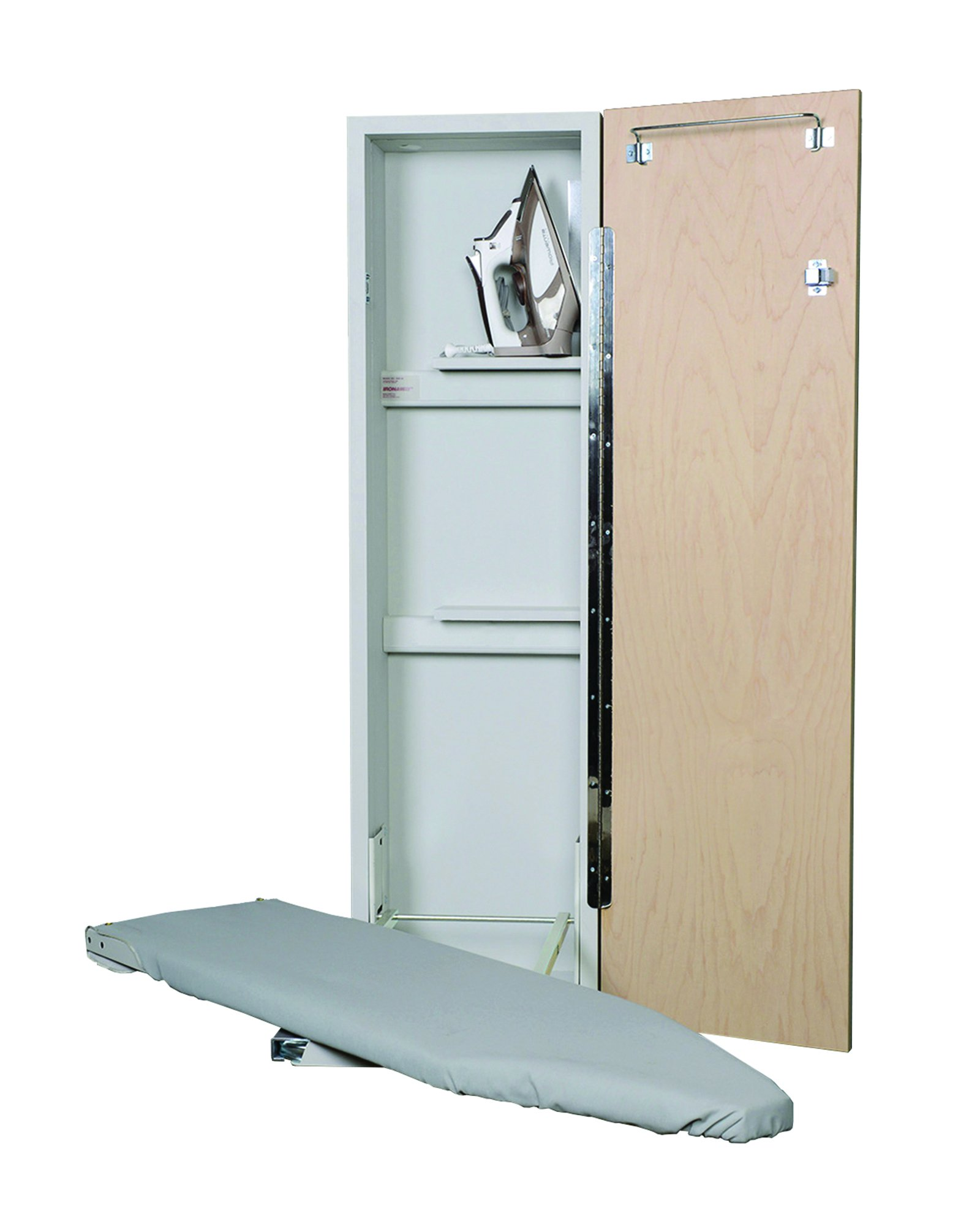 Iron-a-Way Deluxe Swivel Non-Electric Ironing Center, Flat Maple Door