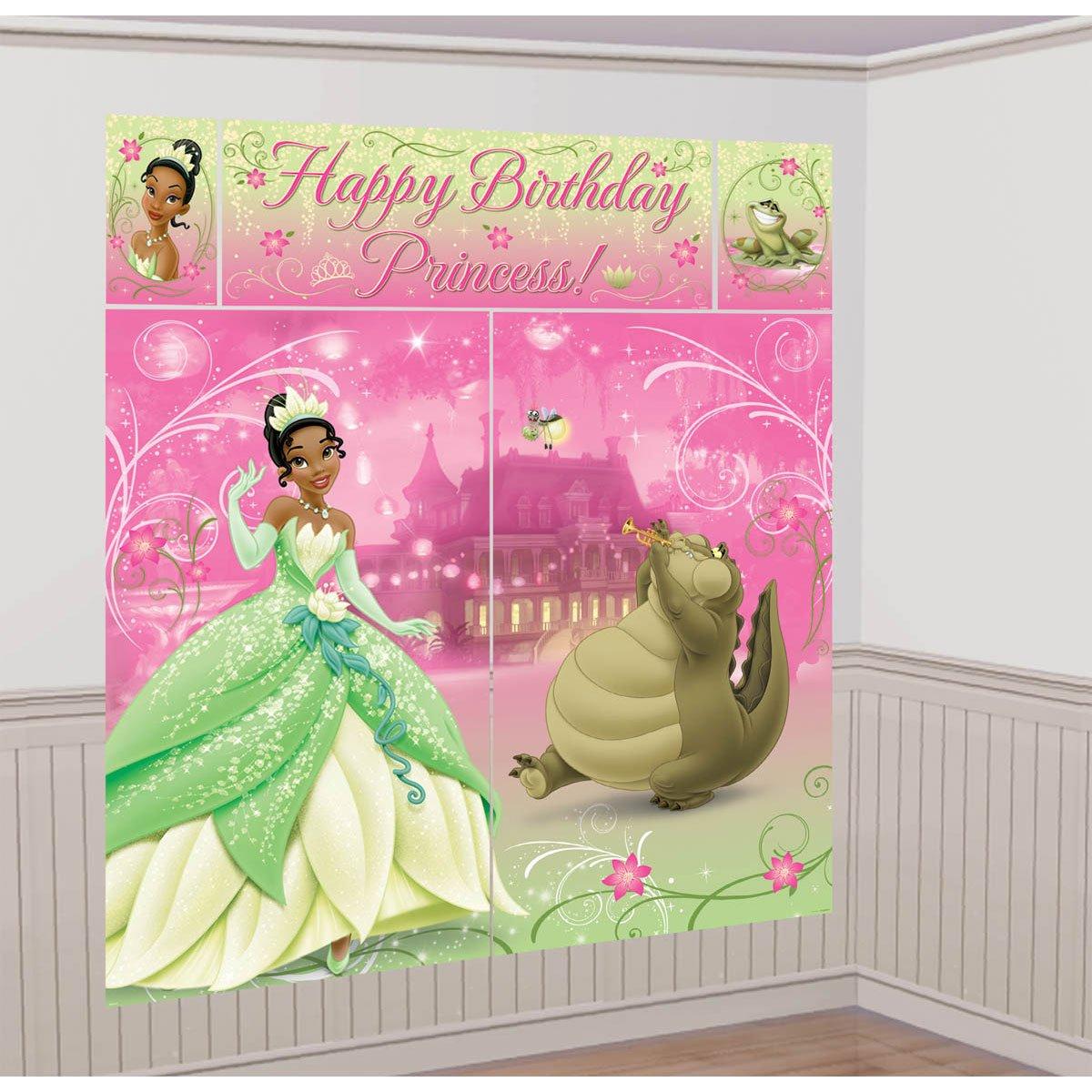 Princess And The Frog Bedroom Decor Amazoncom Princess And The Frog Sparkle Giant Scene Setter