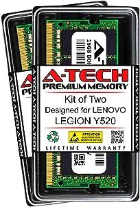 A-Tech 32GB (2 x 16GB) RAM for Lenovo Legion Y520 | DDR4 2400MHz SODIMM PC4-19200 260-Pin Non-ECC Memory Upgrade Kit