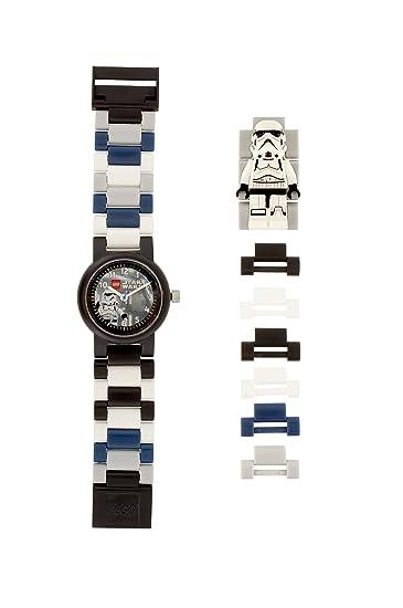 378a4b8c707a Reloj modificable infantil con figurita de la tropa de asalto de LEGO Star  Wars 8021025  Amazon.es  Relojes