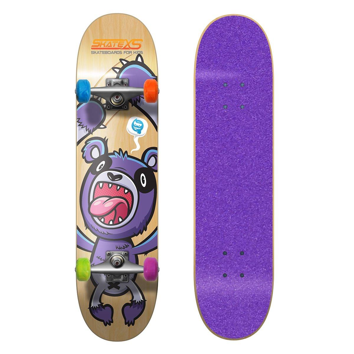 史上一番安い SkateXS 初心者 パンダ ストリート Multi-Color キッズ (Ages x スケートボード B0170QHW6Q 7.25 x 29 (Ages 8-10)|Purple Grip Tape/ Multi-Color Wheels Purple Grip Tape/ Multi-Color Wheels 7.25 x 29 (Ages 8-10), CREAM:856d4fa8 --- a0267596.xsph.ru