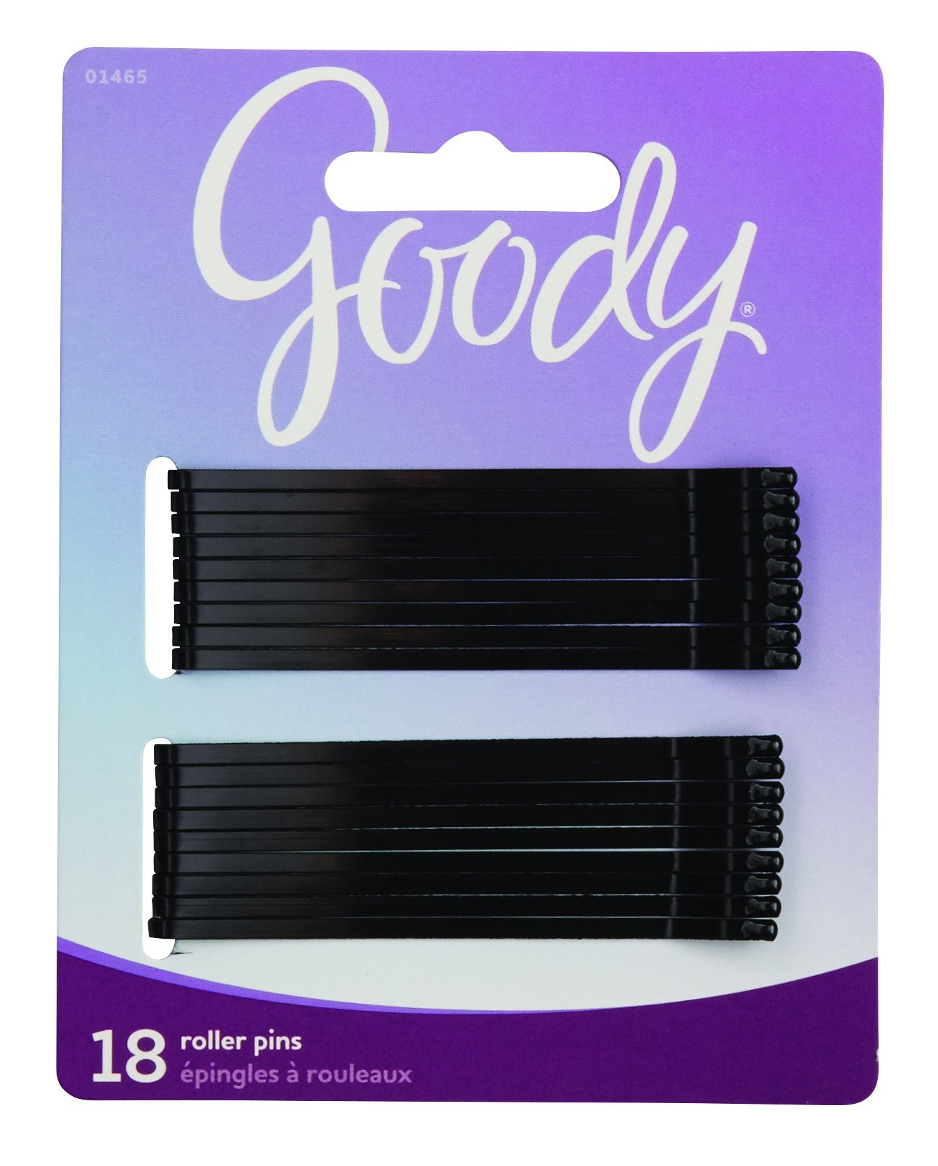 Goody Black Roller Pins, 3 inches 18 ea (Pack of 6)