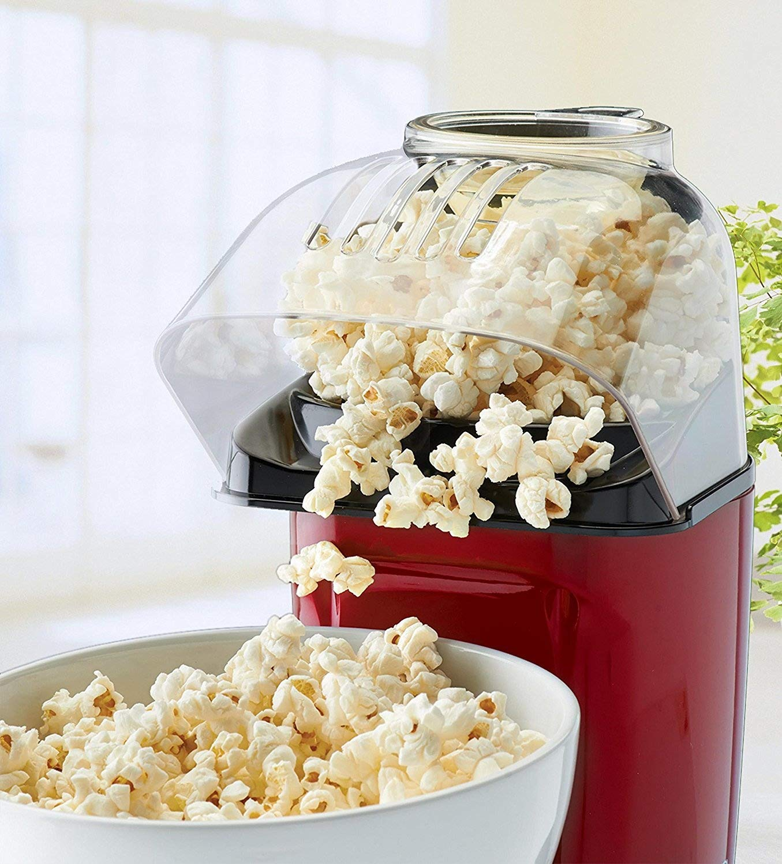 J-JATI Air Pop Popcorn Maker, Makes 12 Cups of Popcorn, Includes Measuring Cup and Removable Lid, Dishwasher-Safe - RJ33-T-Red RJ-t-Red