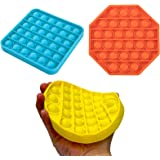 3 Pack Push pop Bubble Sensory Fidget Toy Autism Special Needs Stress Reliever Silicone Stress Reliever Toy Squeeze Sensory T