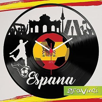 gravinci. de vinilos de Reloj de Pared España Fan Tocadiscos Reloj: Amazon.es: Juguetes y juegos