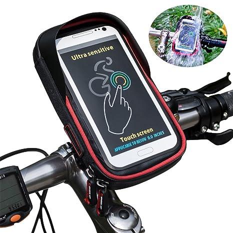 Ciclismo bicicleta bicicleta soporte para teléfono bolsa, rueda ...