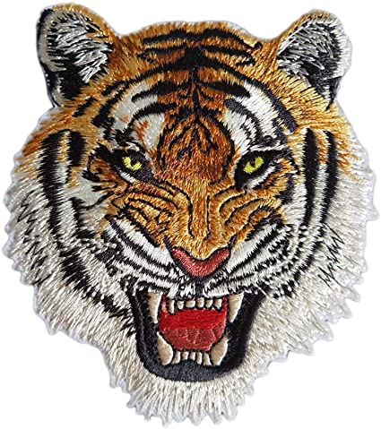 13pcs Assorted Tigers Embroidered Safri Animal Patches Sew Iron on Applique Badge