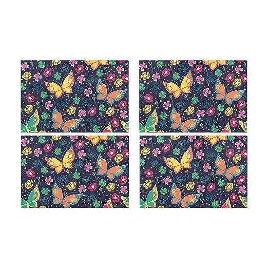 Rtosd Mariposa Tradicional Flor Coloreada Cocina Impreso ...