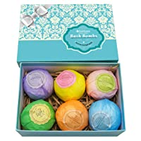 Bath Bombs Ultra Lux Gift Set - 6 XXL All Natural Fizzies with Dead Sea Salt Cocoa...