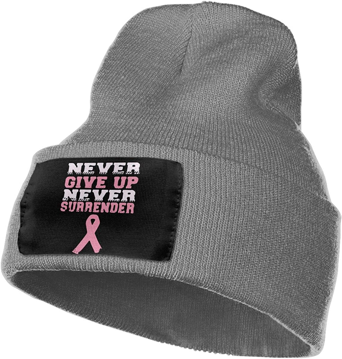 Breast Cancer Awareness Thick Skull Beanie WHOO93@Y Mens and Womens 100/% Acrylic Knitted Hat Cap