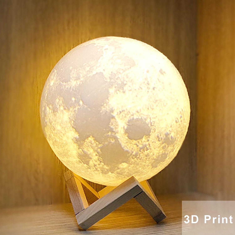 Amazon.com: Seetop Llavero de luna con impresión 3D, llavero ...