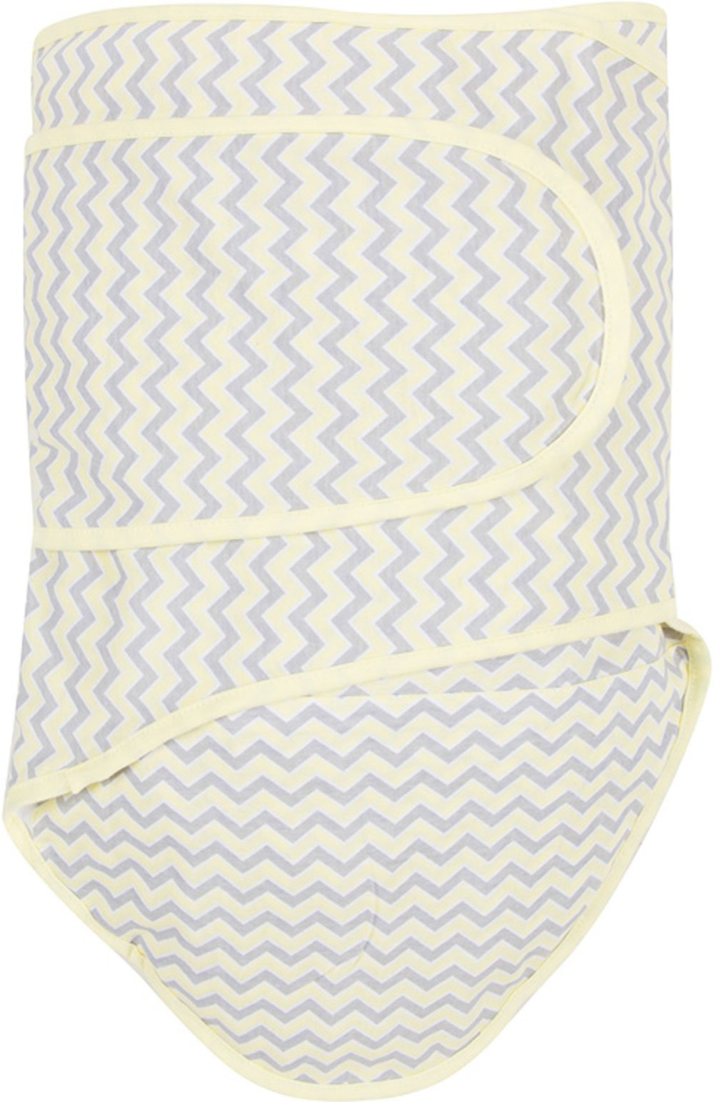 Miracle Blanket Swaddle Unisex Baby, Yellow Chevron by Miracle Blanket