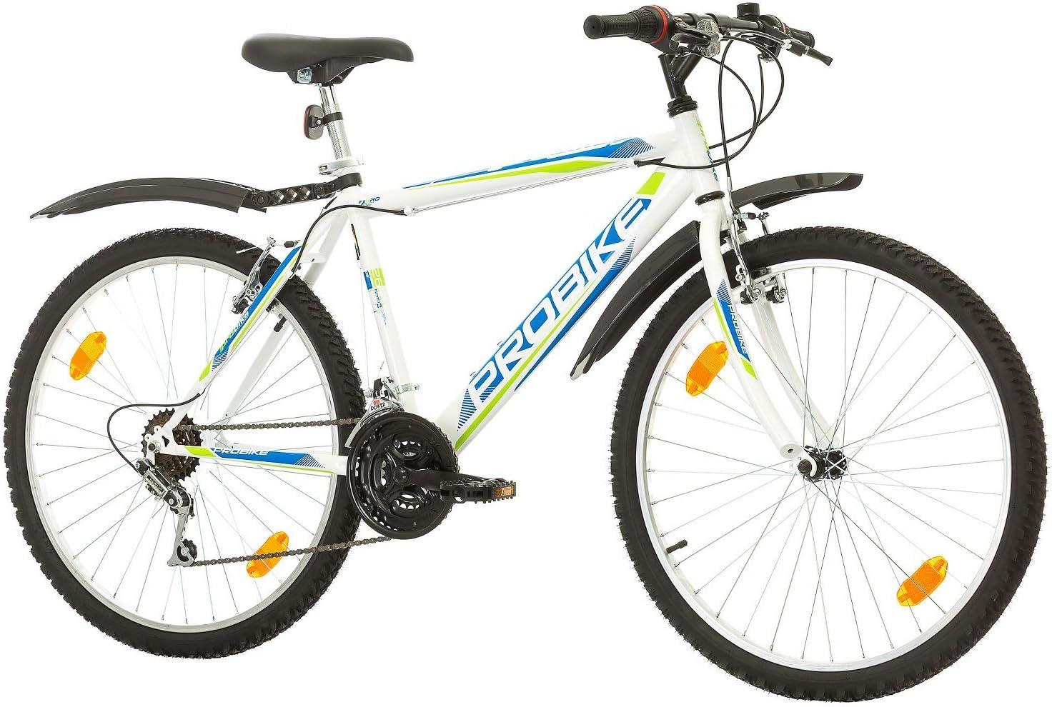 Herren-Fahrrad /& Jungen-Fahrrad geeignet ab 165-183 cm Multibrand PROBIKE 26 Zoll Mountainbike Shimano 18 Gang