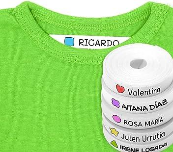 Galassia MOD Haberdashery Online 100 Etichete Bianche Personalizzate in Ferro su Tessuto per contrassegnate i Vostri Vestiti con unicona di Colore