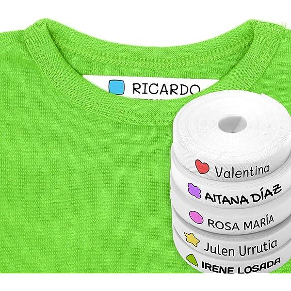 100 Etiquetas Personalizadas para ropa con Icono en Color a ...