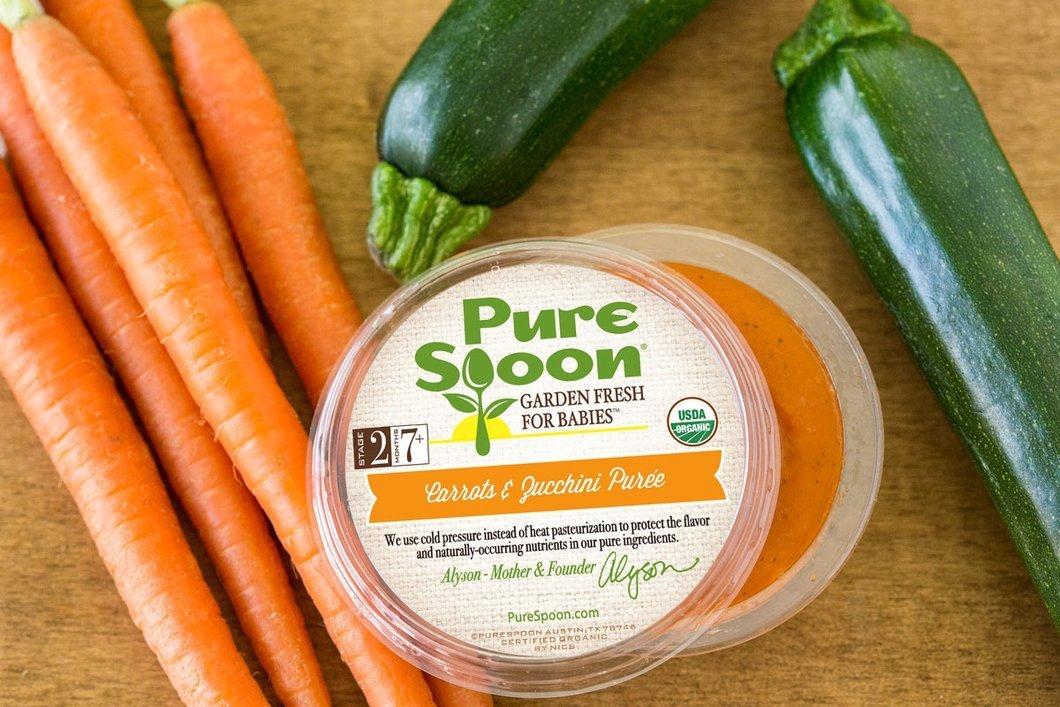 Pure Spoon Garden Fresh, Organic Vegetable Medley Stage 1 & 2 Baby Food Sampler, 4.2oz (Pack of 10)