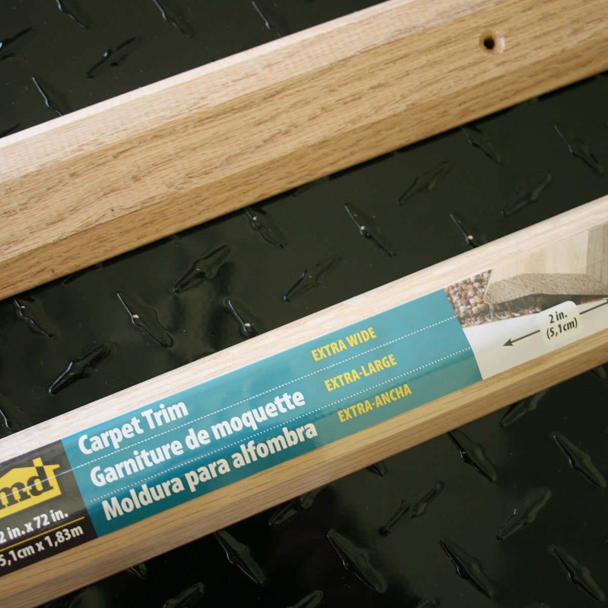 Unfinished M-D Building Products 85423 Extra Wide 2-Inch by 72-Inch Carpet Trim
