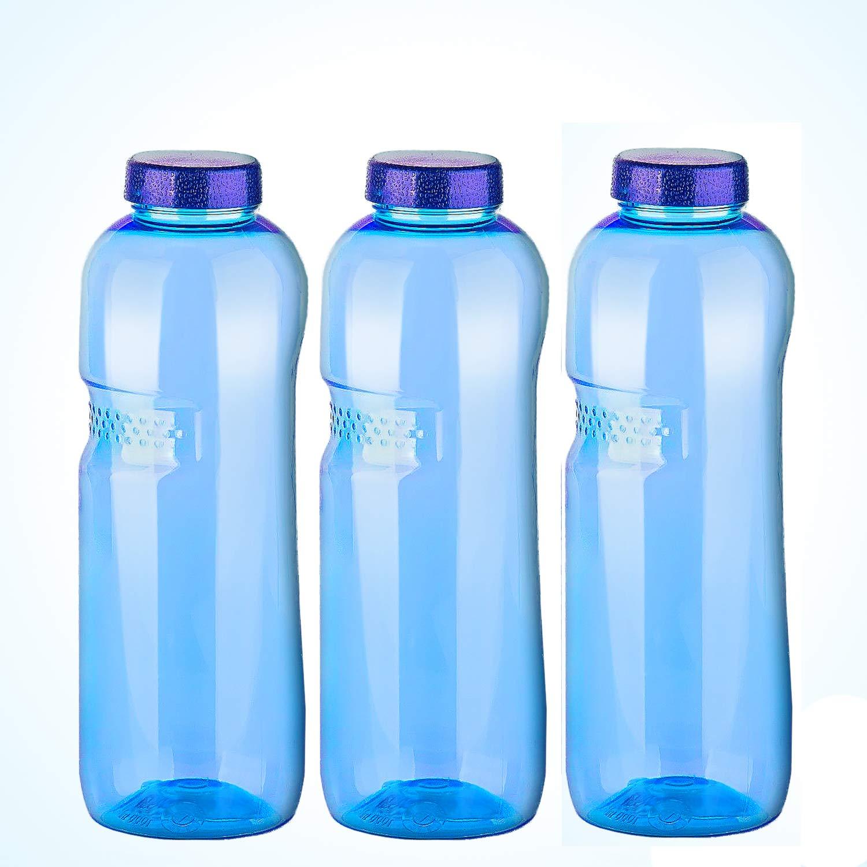 3 x 1 Liter Trinkflasche aus Tritan / Wasserflasche / BPA-frei Greiner