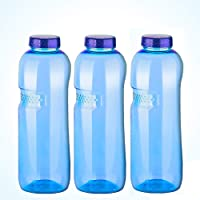 Top Quality Strong BPA-Free Tritan) Water Bottle with Screw Cap–3x 1Litre–Pack 02